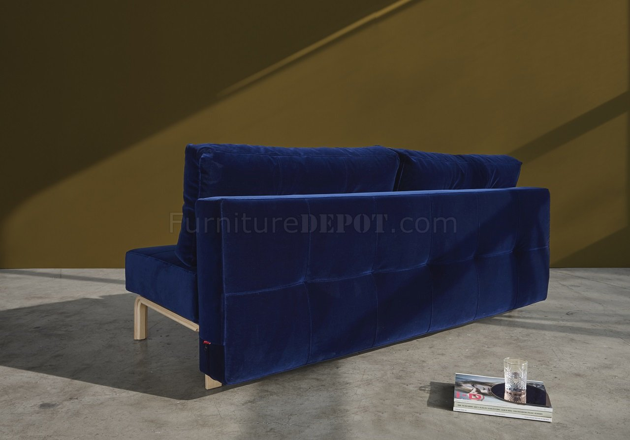 oak furniture sofa beds feet with wheels supremax vintage bed in blue w legs by innovation