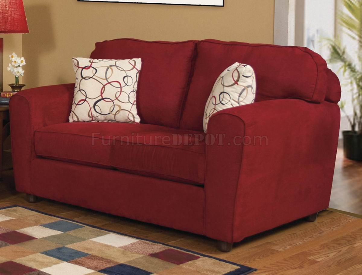 red fabric sofa chaise uk modern and loveseat set w options