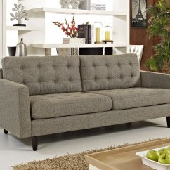 Oatmeal Sofa Chenille Brush Empress In Fabric By Modway W Options