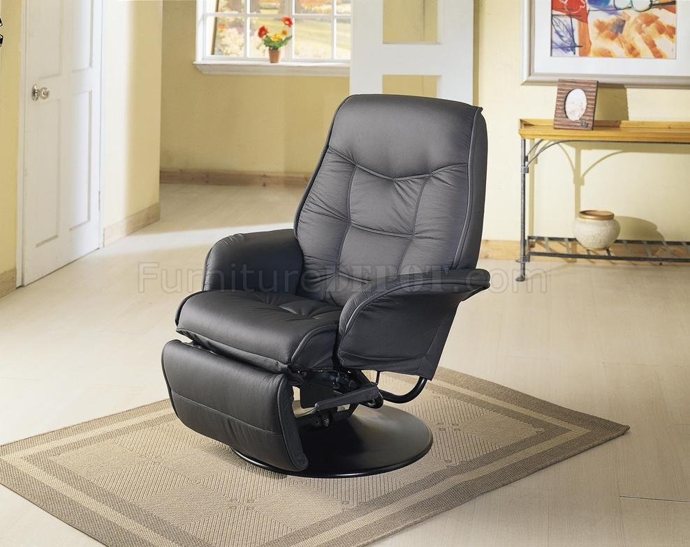 swivel reclining chairs small office chair under 300 black leatherette cushion contemporary recliner