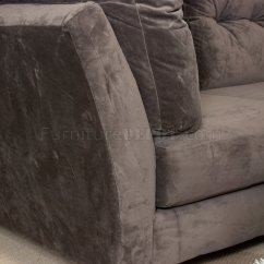 Suede Sofa Fabric Sofas Sectional Mocha Brown Modern 3pc
