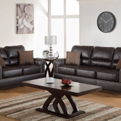 Espresso Bonded Leather Reclining Sofa Loveseat Set Light Yellow Pillows F7878 And In By Boss