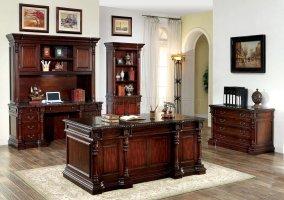 Roosevelt CM DK6252D Rectangular Office Desk in Cherry w ...