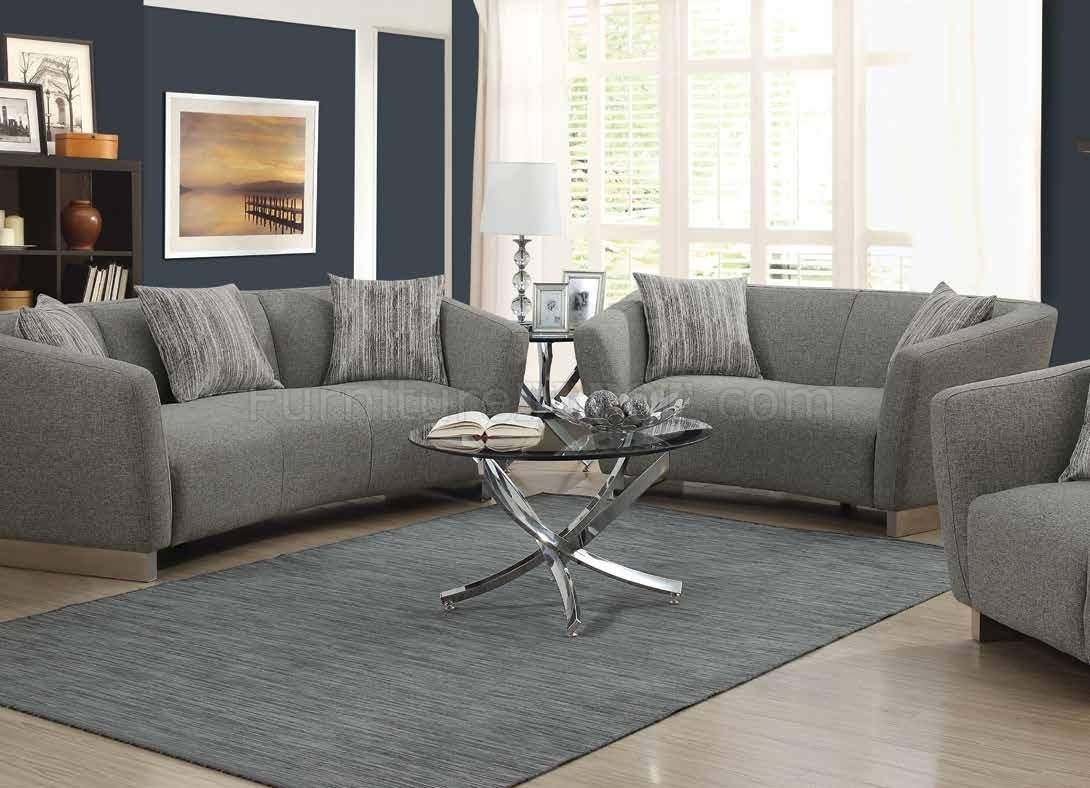 grayson sofa bed full grain in grey woven fabric 506221 by coaster w options