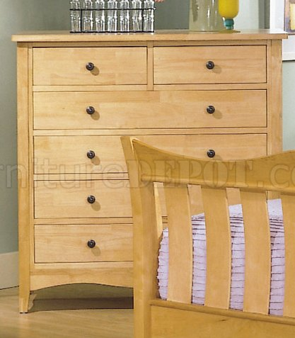 natural wood finish casual 5pc bedroom