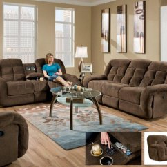 Albany Industries Leather Sofa Wood Carving Furniture 1808 Motion & Loveseat In Chocolate Fabric By