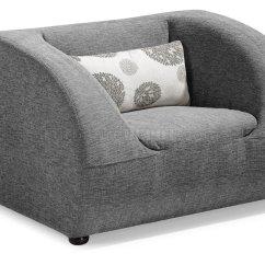 Gray Fabric Sofa Chair Sure Fit Plush Throw Slipcover Modern Living Room W Optional Chairs