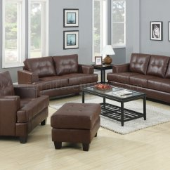Coaster Samuel Bonded Leather Sofa Cooper Big Lots And Loveseat Set Brown Leatherette 504071 By