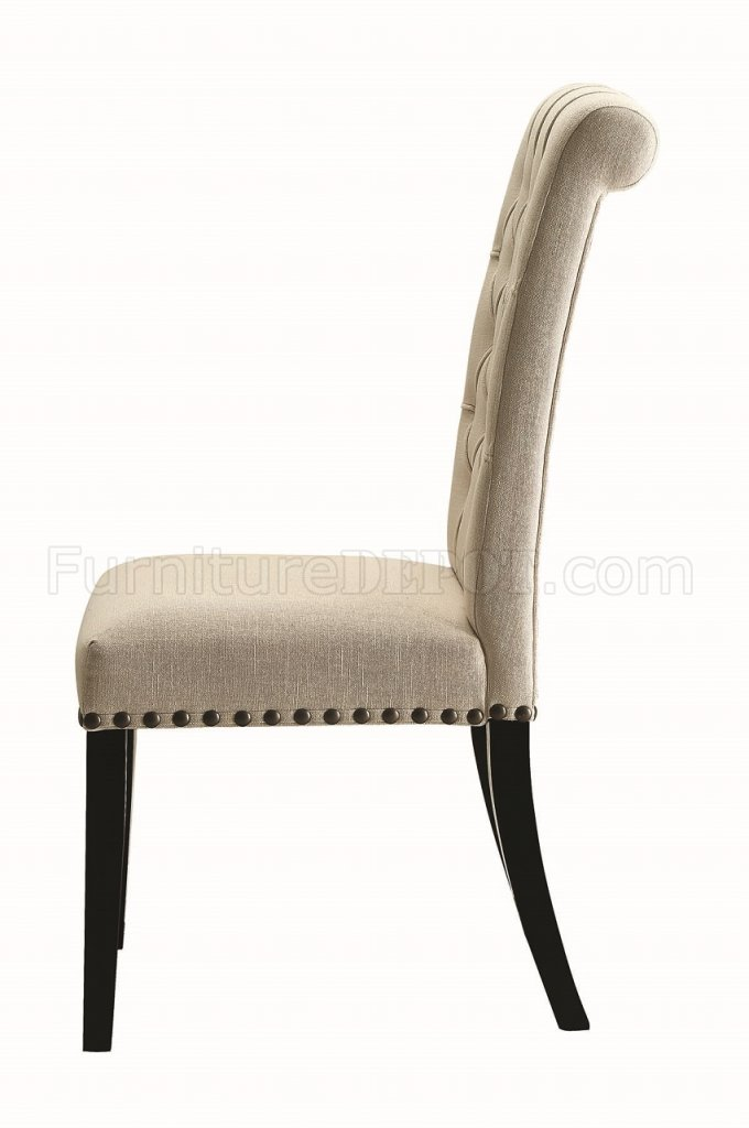 set of 4 dining chairs white wicker uk parking 190162 in beige by coaster