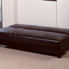 Rome Faux Leather Convertible Sofa Bed Brown What Colour Walls Go With Blue Deep Contemporary