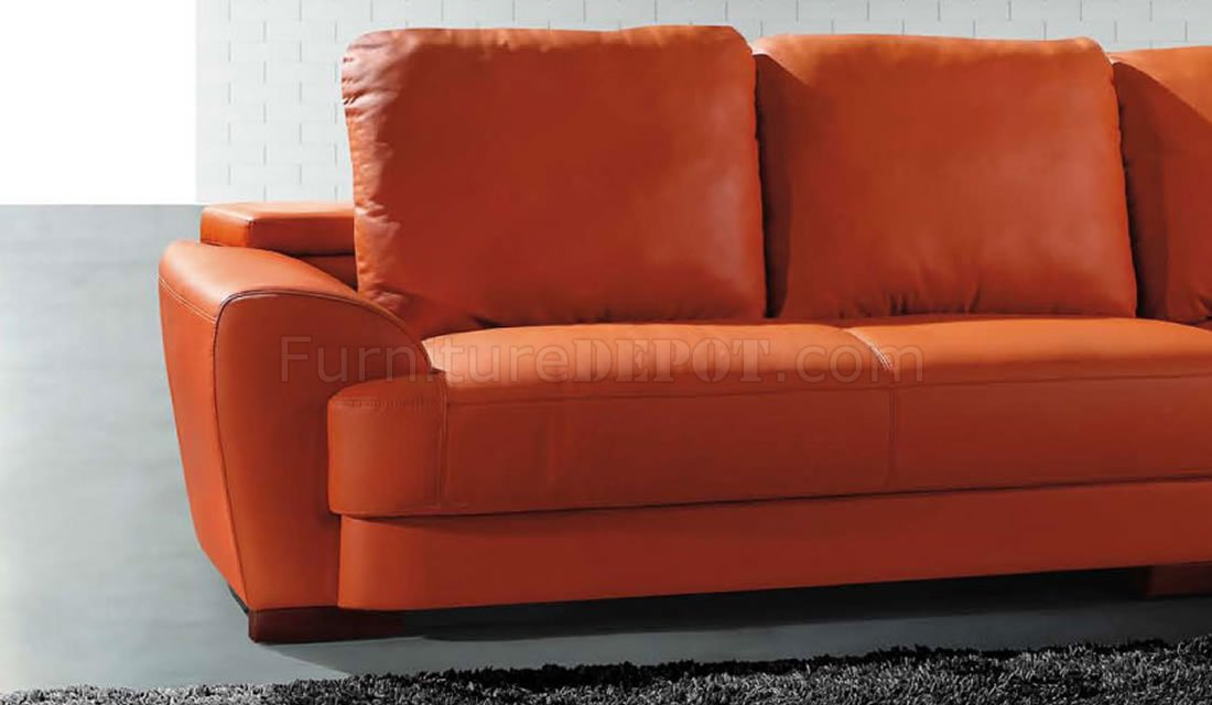 Modern Sectional Sofa 7 Orange