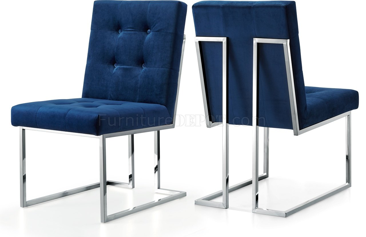 navy blue dining chairs set of 2 chair design structure alexis 731 velvet fabric by