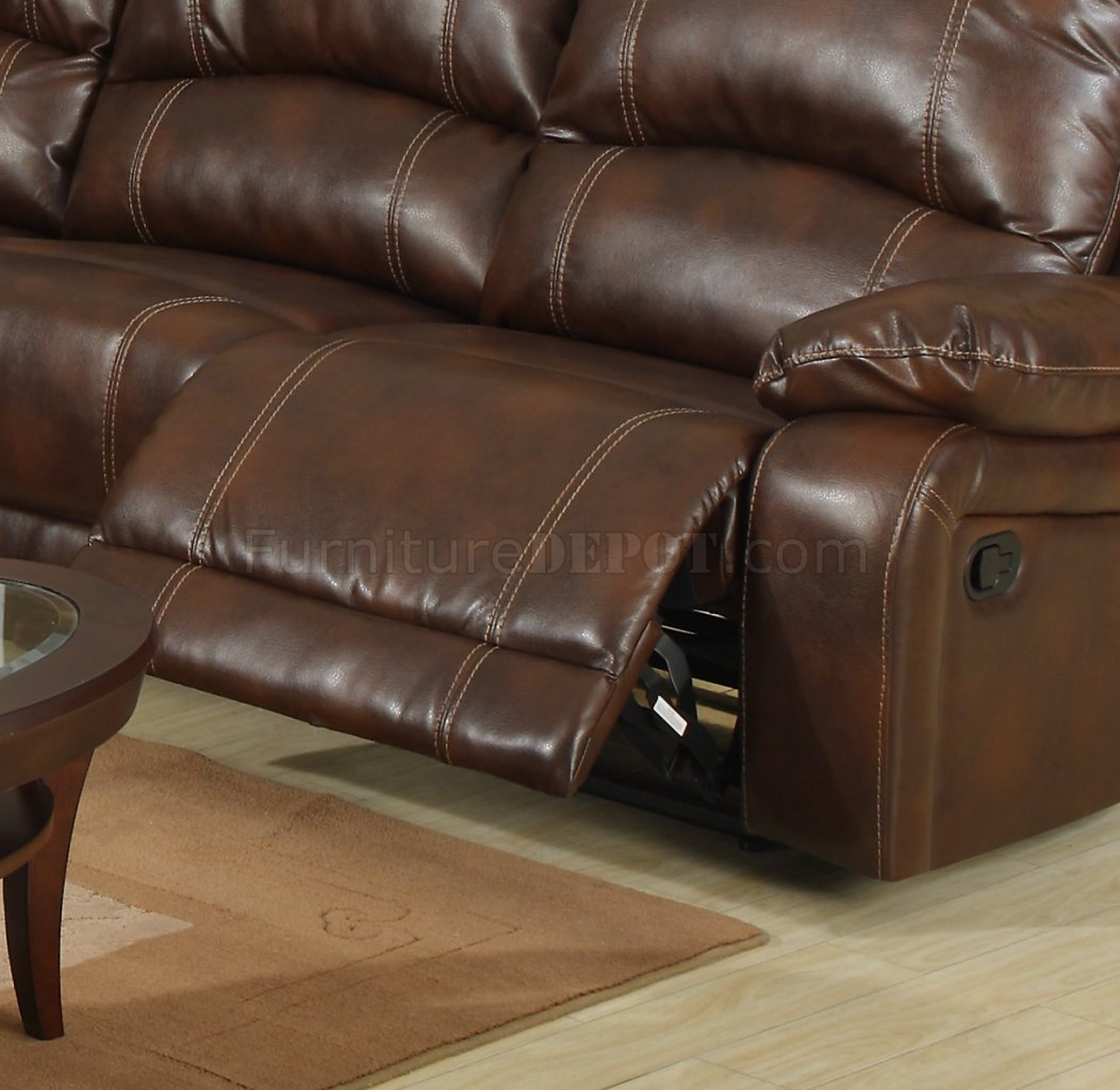 modern bonded leather sectional sofa with recliners almayo barreiros wine reclining w console