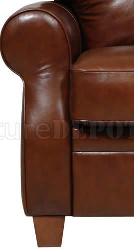 italian leather recliner sofa set red in living room dark caramel full pushback chair