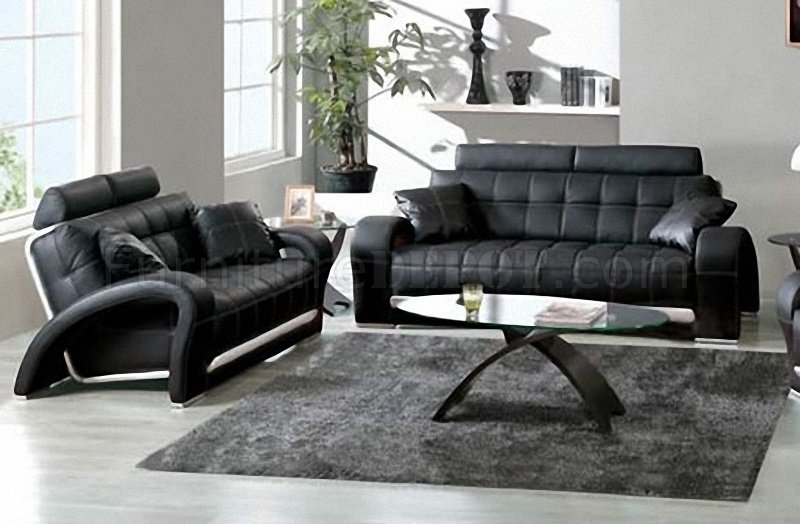 tufted leather sofa cheap retro sofas uk black loveseat w silver accents
