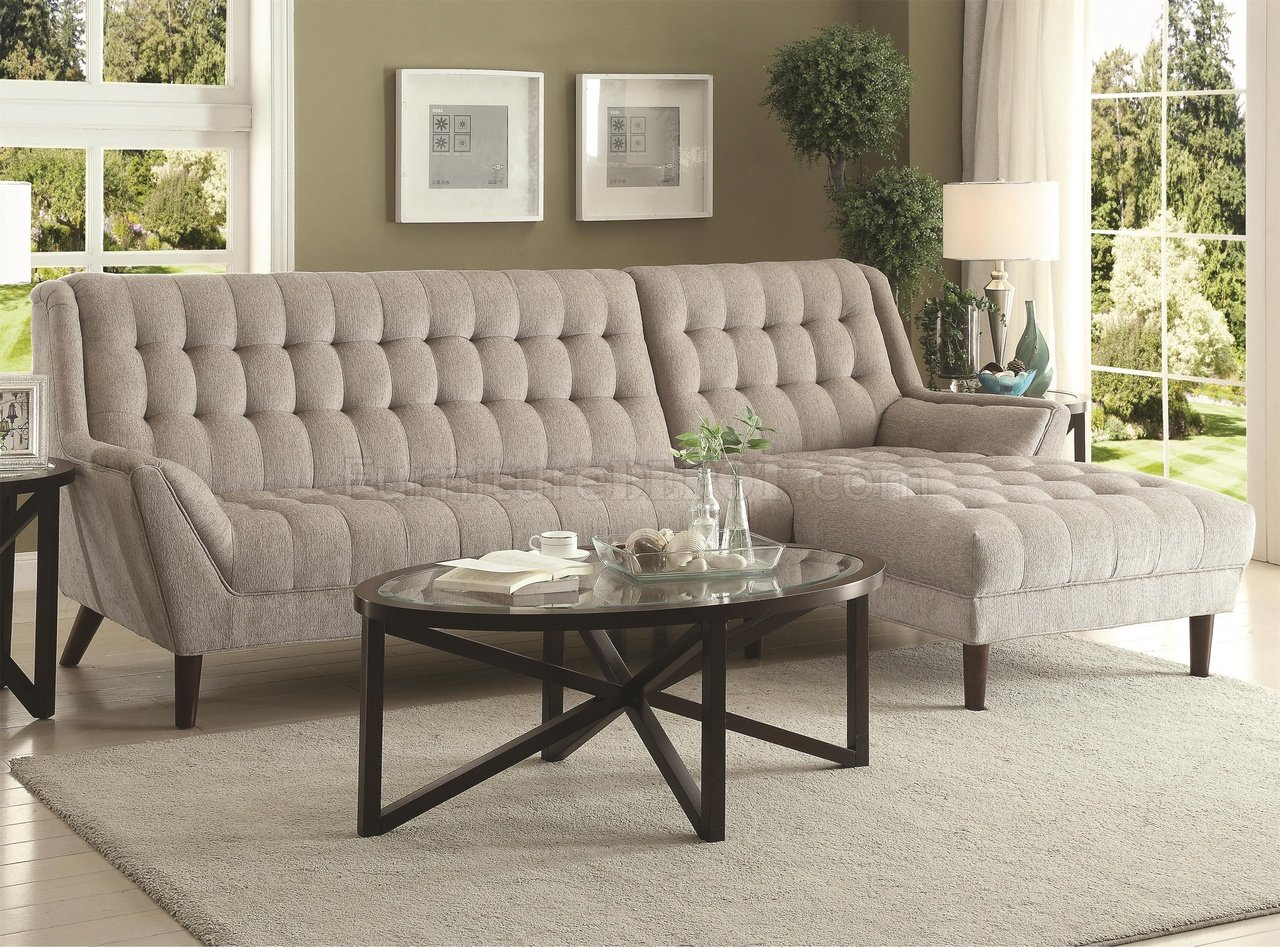natalia leather and chenille sofa repair nj sectional 503777 in dove grey fabric by coaster