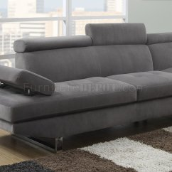 Grey Sofa Fabric Texture How Much Does It Cost To Reupholster A Canada 4015 Sectional In Gray Textured Sateen