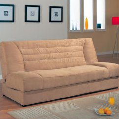 Microfiber Sofa Bed Table Alternatives Modern Convertible 500781 Tan