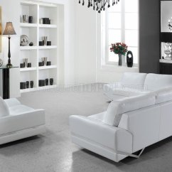 White Leather Sofa And Loveseat Set Sears Bed Canada Vanity 3pc In 0744 By Vig