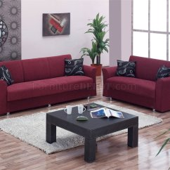 Burgundy Sofa And Loveseat Leather Set With Wood Trim Ohio Bed In Fabric By Empire W Optional