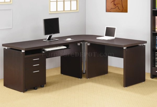 Skylar Office Desk 800891 In Cappuccino Coaster Withoptions