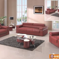 Sierra Red Living Room Sectional Cape Cod Style Maroon Sofa In Bonded Leather By American Eagle Furniture