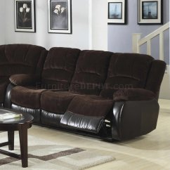 Alicia Two Tone Modern Sofa And Loveseat Set Metal Chocolate Espresso Motion Sectional