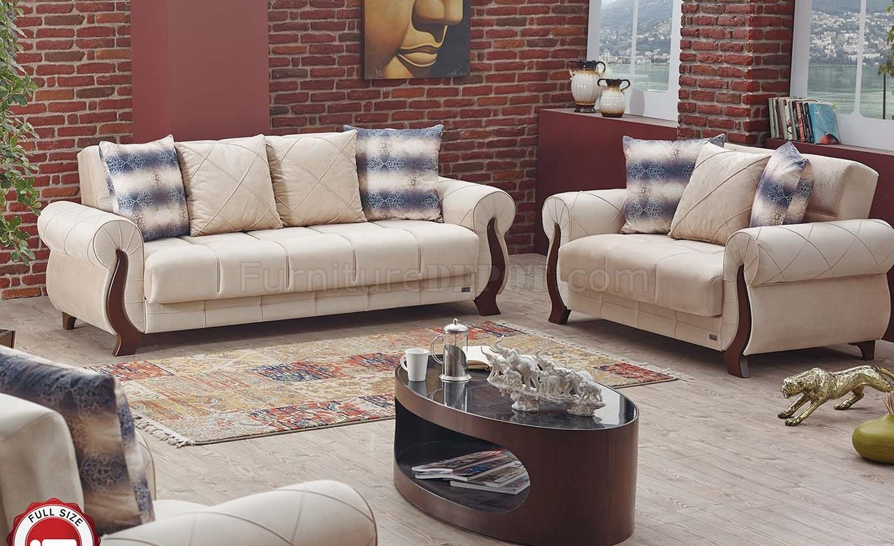 sectional sofas ontario canada room and board hess sofa review bed in beige fabric by empire w options