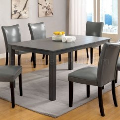 Parson Dining Room Chair Sets Wide Office Chairs Cm3179t Kenton I 7pc Set In Gray