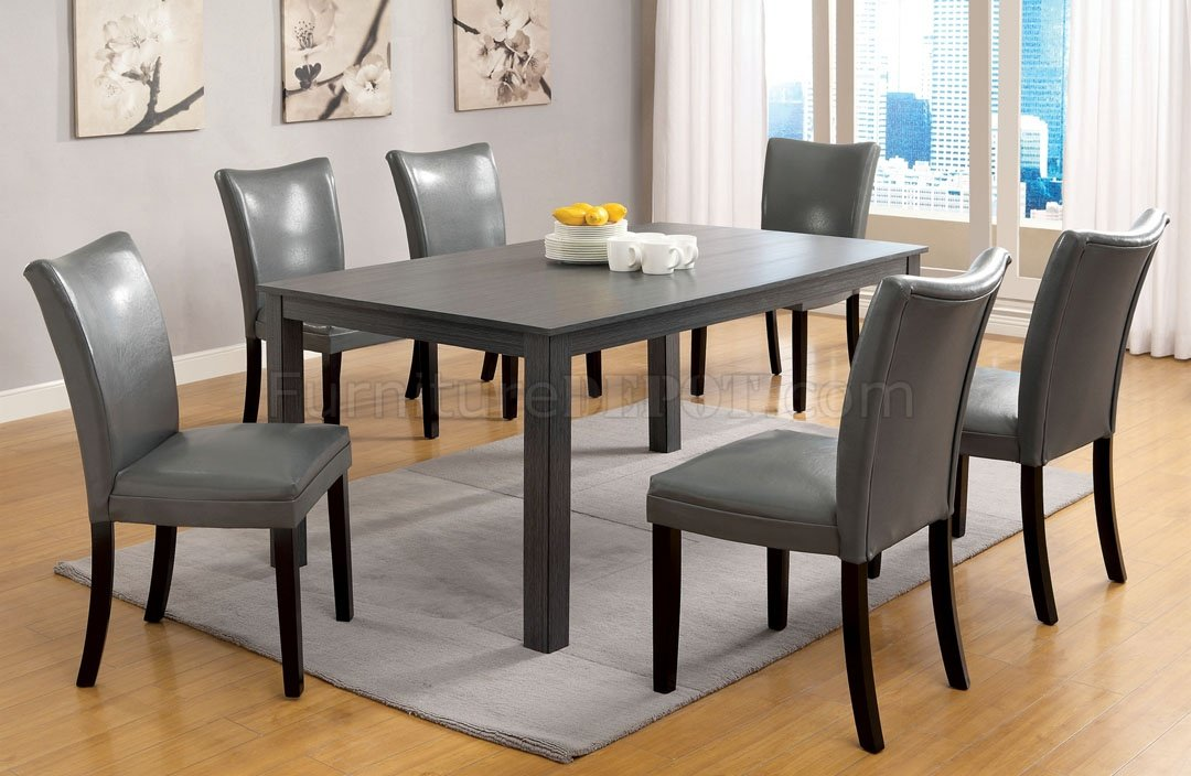 parson dining room chair sets fancy covers for weddings cm3179t kenton i 7pc set in gray