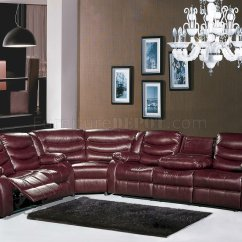 L Shaped Modern Sofa Cheers Manwah Reviews Gramercy 644 Motion Sectional In Burgundy Bonded Leather