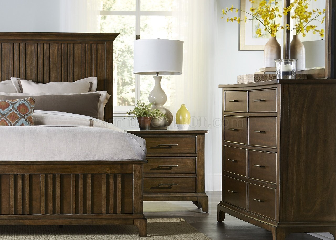 Mill Creek Bedroom 5Pc Set 458 BR In Rustic Cherry By Liberty