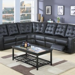 Sectional Recliner Sofas Taylor King Modern Leather Double Reclining Sofa 600315 Black