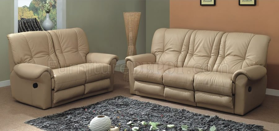 beige leather contemporary living room