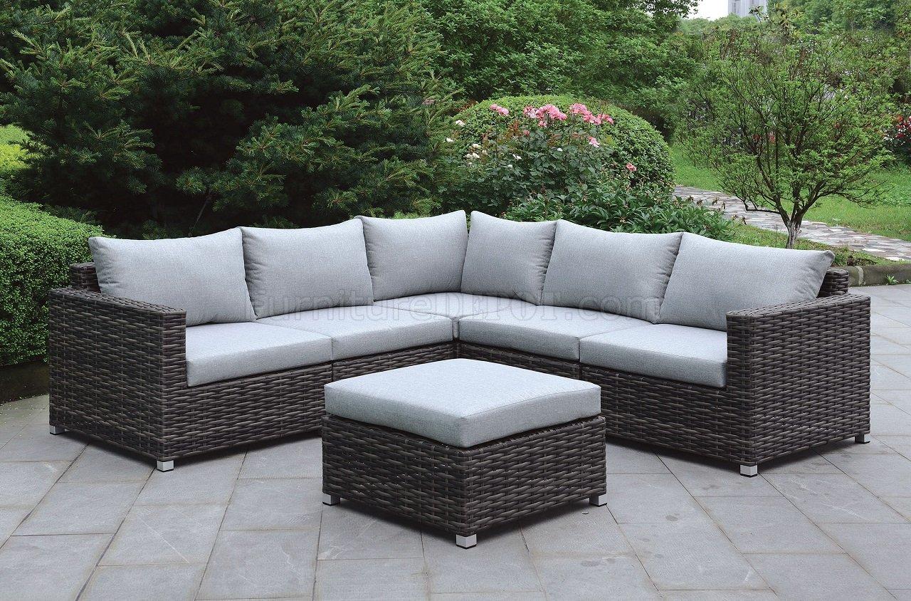 Lavana CMOS2118 Patio Sectional Sofa wOttoman