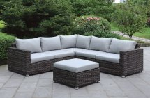Lavana Cm-os2118 Patio Sectional Sofa Withottoman