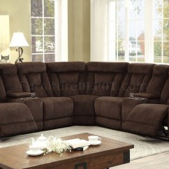 Chenille Sofa Beds Two Cushion Maybell Motion Sectional Cm6773br In Brown ...