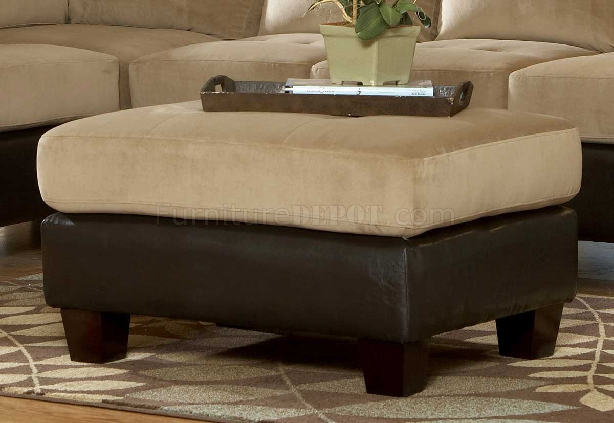 sectional sofas light brown sofa san antonio 9838br royce in microfiber by