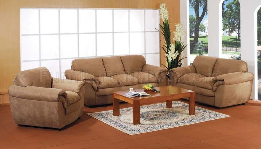 microfiber living room furniture stuff tan set