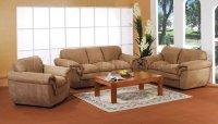 Tan Microfiber Living Room Set