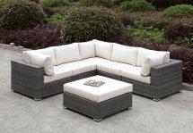 Somani Cm-os2128-12 Outdoor Patio L-shaped Sectional Sofa Set
