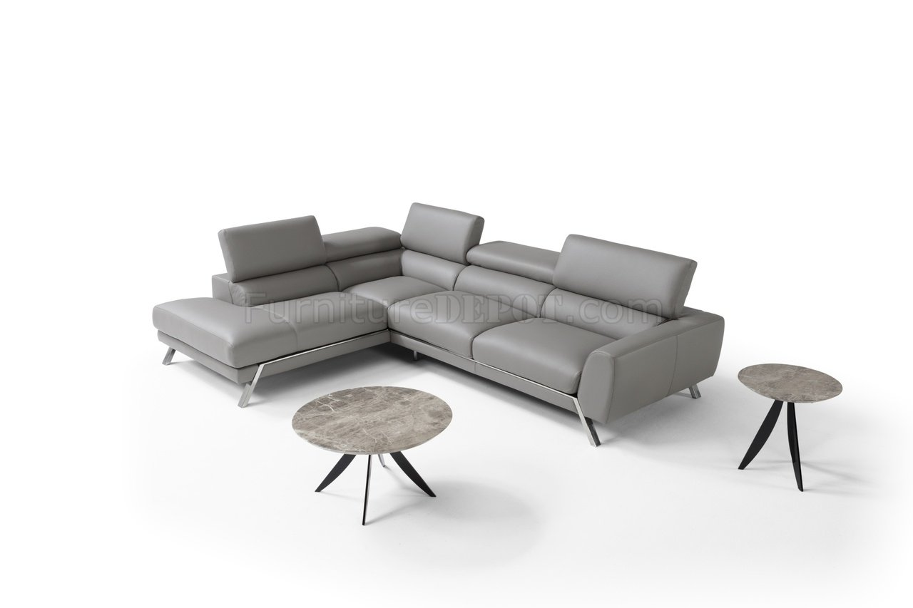 gray leather sofa recliner taupe what color walls mood power reclining sectional in grey by j andm