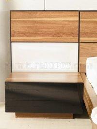 Modern Bedroom Set Rondo Walnut Zebrano