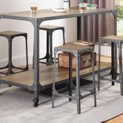 Kitchen Island Sets White Cabinets Home Depot 102998 W 4 Bar Stools 5pc Set By Coaster