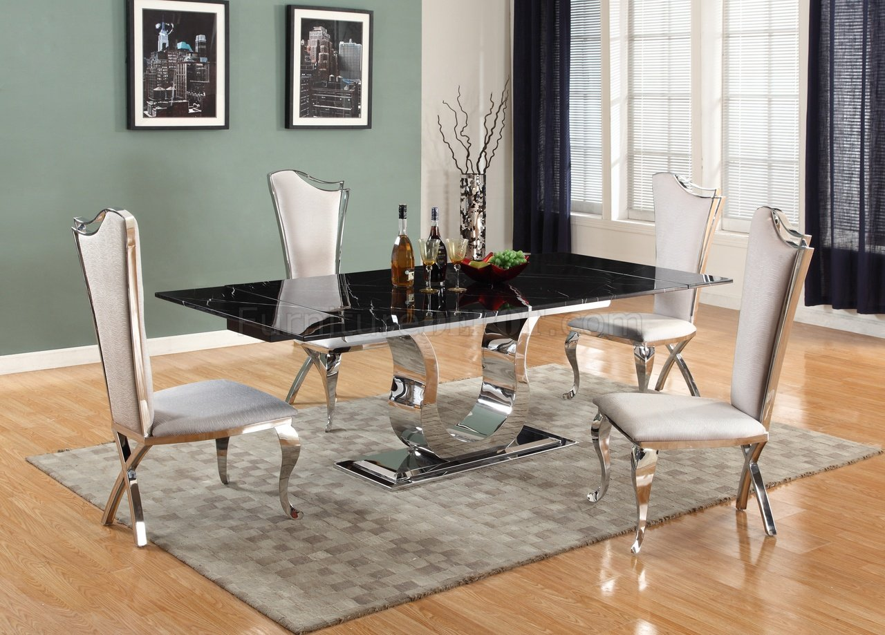 Chairs Silver Black And Dining