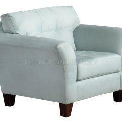 Blue Fabric Recliner Sofa Half Moon Light Modern And Loveseat Set W Wood Legs