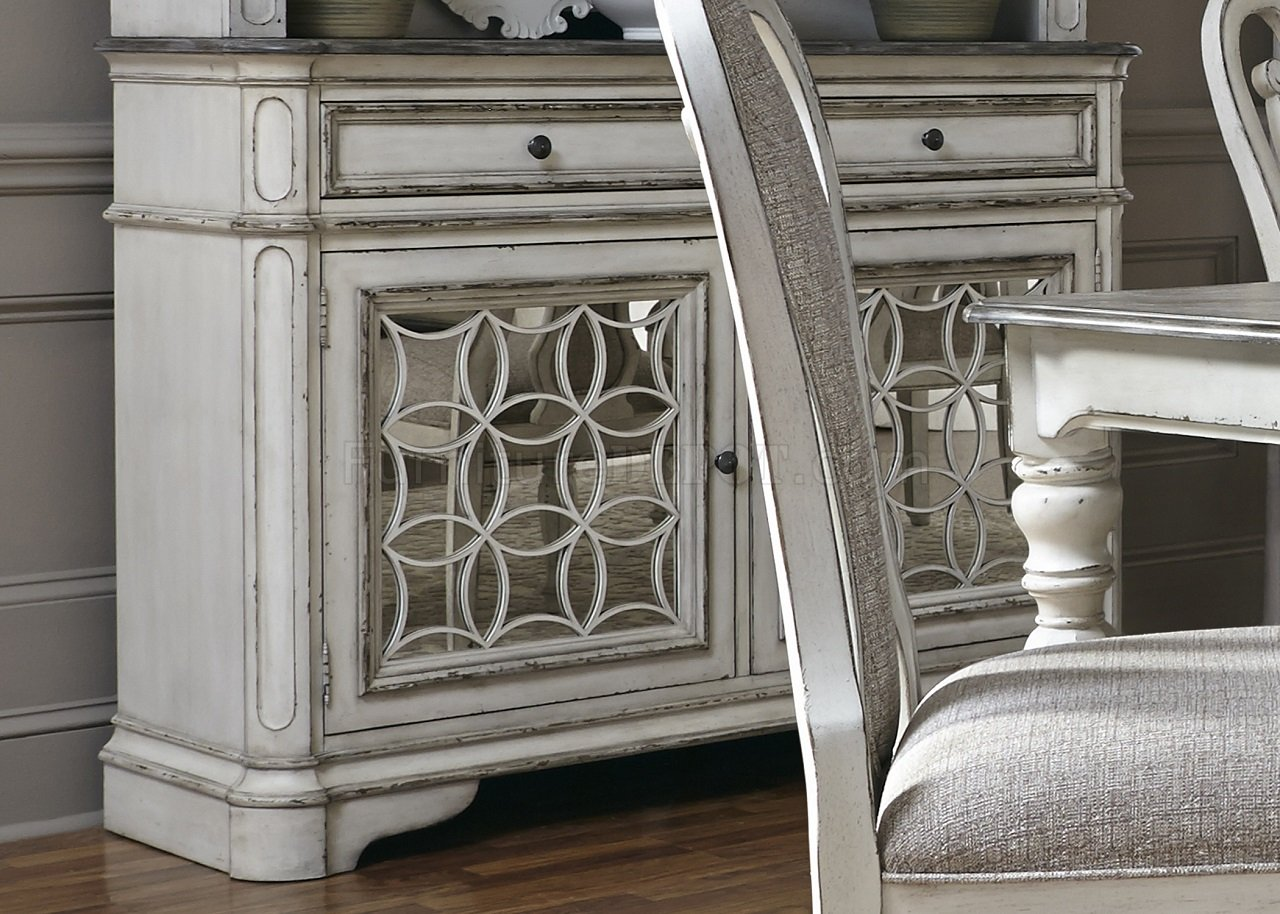 Magnolia Manor Dining Table 244 In Antique White By Liberty