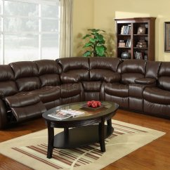 Brown Leather Sofa Recliner Art Deco 8002 Reclining Sectional In Bonded