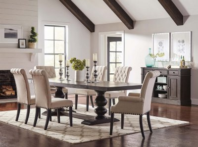 3 2 leather sofa set lazy boy reclining and loveseat phelps dining table 121231 in antique noir by coaster w ...