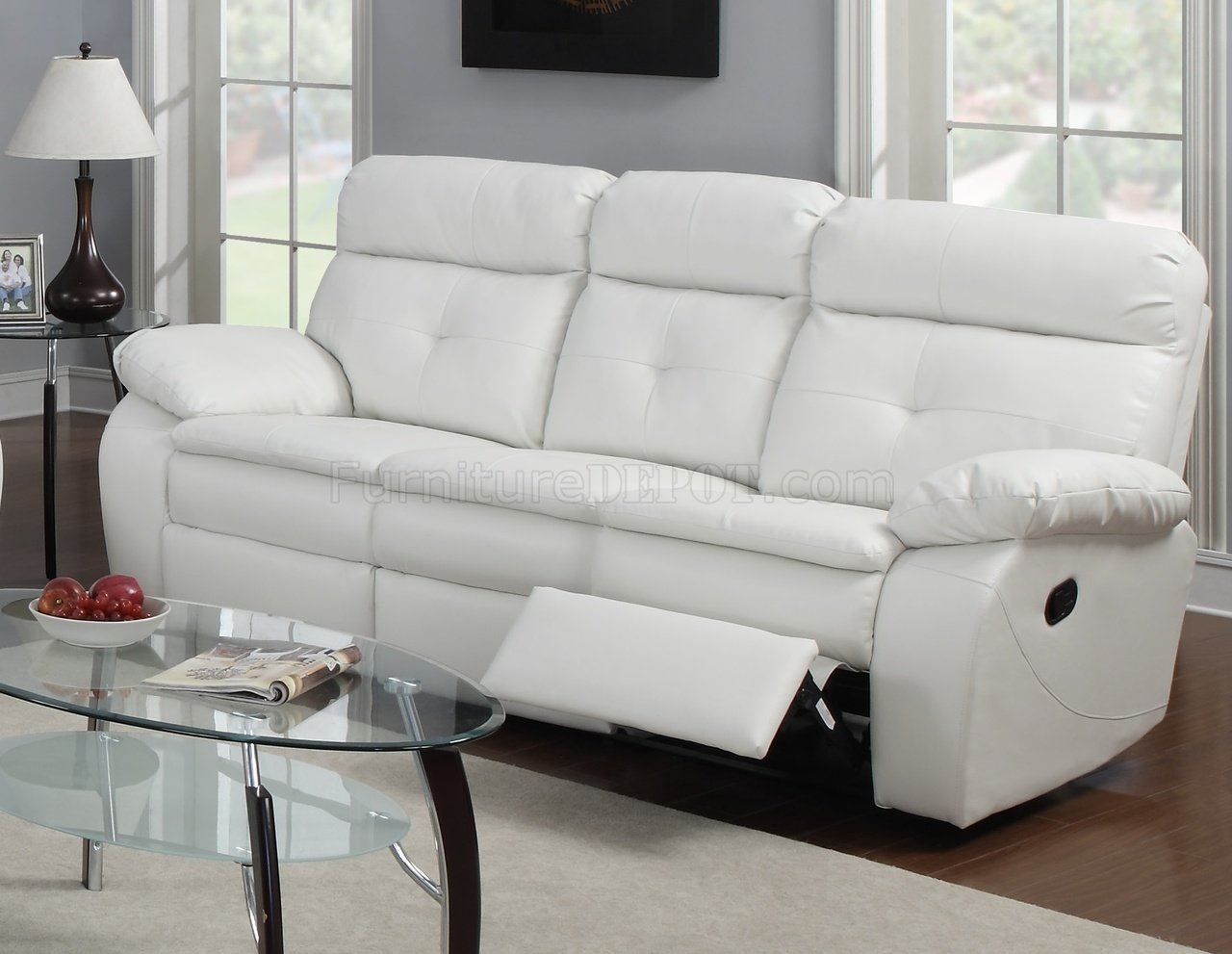 glider chair accessories costco leather chairs g577a reclining sofa & loveseat in white bonded by glory